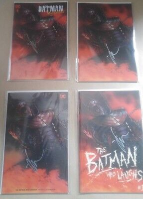 Batman Who Laughs #1 - Gabriele Dell Otto Set of 4 - JOCK Signed - Convention Ex