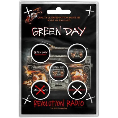 Green Day - 5 x 2.5cm Button Set - Revolution Radio