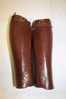 Wwii British Officer Leather Leggings