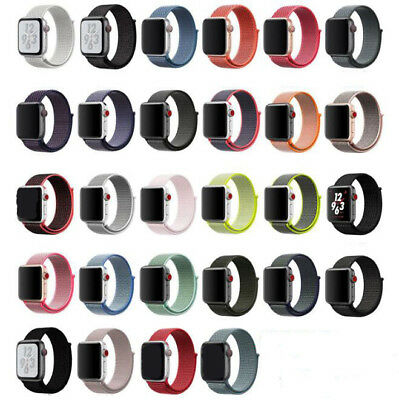 38/40/42/44mm Nylon Woven Sport Loop iWatch Band Strap for Apple Watch Series
