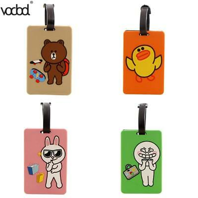 Luggage Tag Travel Cartoon Silicone Suitcase Tags ID Address Holder Baggage