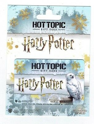 HARRY POTTER / HOT TOPIC Gift Card - Collectible /No $ Cash Value ~FREE DOM SHIP