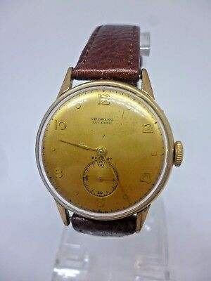 Vintage Sporing of Lucerne dress watch c.1940's *extremely rare*