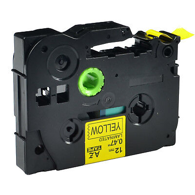 Black on Yellow Label Tape For Brother TZe-631 TZ-631 PT-P750W P-touch 12mm 8m