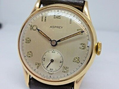 1951 9ct gold Gents Asprey of London watch totally original a stunnting watch