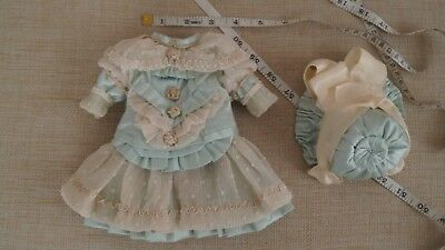 Dress and hat only for your most beautiful French or German antique doll.