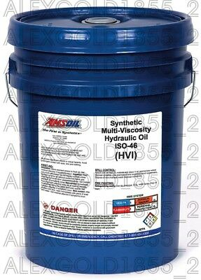 AMSOIL Synthetic Multi-Viscosity Hydraulic Oil - ISO 46   5 GALLON PAIL