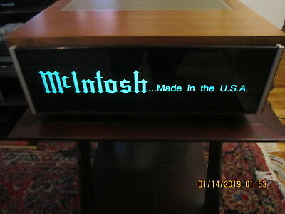 McIntosh made in the usa stereo advertising lighted display sign wooden cabinet
