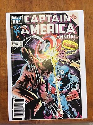 1986 Marvel Captain America Annual #8 Classic Mike Zeck Wolverine Nm- 9.2