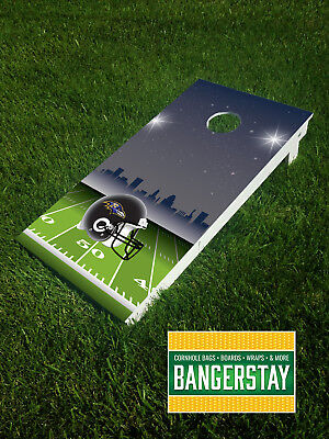 Handcrafted Cornhole Boards with Scorestrip- Baltimore Ravens (BR3)