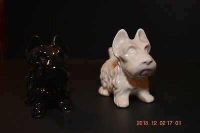 Scottish Terrier Dog Black and White Salt And Pepper Shakers