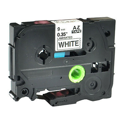 Black on White Label Tape For Brother TZe-221 TZ-221 PT-P700 P750W P-touch 9mm