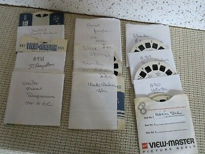 10 sets of Viewmaster Reels