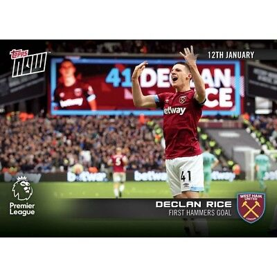2018-19 Topps NOW Premier League 66 Declan Rice West Ham United ~ PR 79