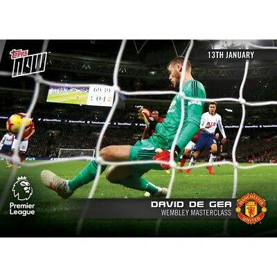 2018-19 Topps NOW Premier League 68 David de Gea Manchester United ~ PR 88