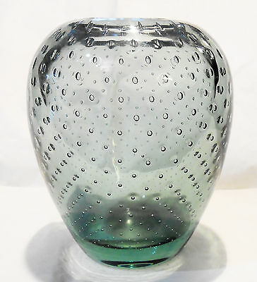 Vaso in Vetro di Murano Bubble Glas Vase Murano light green Vintage