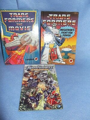 Transformers X 3 Books The Movie - Megatron's Fight For Power - Energon
