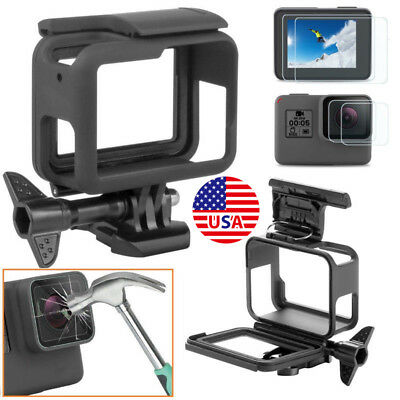 For GoPro HERO 7 6 5 4 Black Protective Cover Case Shell Mount Screen Protector