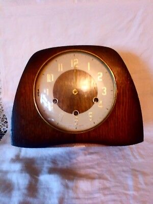 Vintage Smiths Westminster Chime Mantle Clock For Spares Or Repair