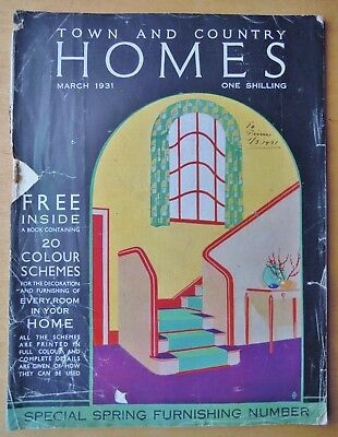 Town & Country Homes Magazine March 1931 With Colour Schemes Book