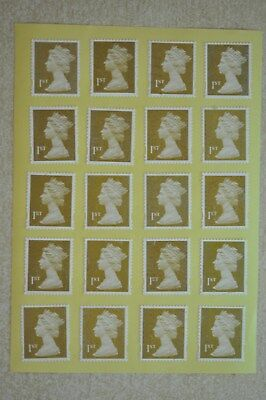 100 Gold Security Flawed 1st First Class Stamps - Peel and Stick - Gummed