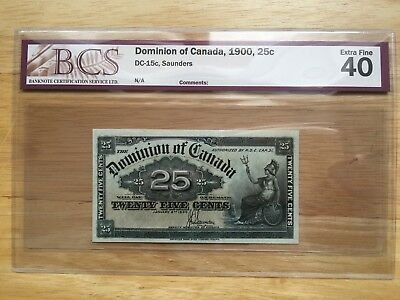 Dominion of Canada 1900 25c BCS EXTRA FINE 40