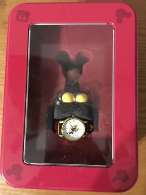 "MICKEY MOUSE Wrist Watch And Figure In Tin. 8"" Simply Mickey 2001"