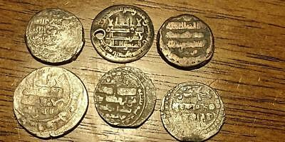 Lot of 6 Silver Islamic Coins - Free U.S. S/H