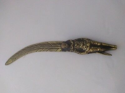Peerage England Antique Brass Clown/Pierrot Feather Paper Knife/Letter Opener