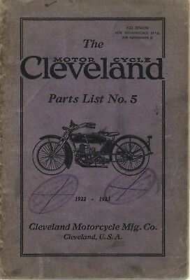 The Cleveland Motorcycle 1922-23 Parts List No.5, original