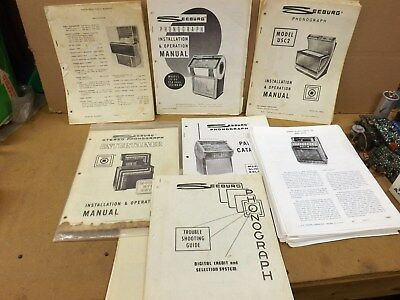 Seeburg Lot Of Misc Jukebox Service Manual Pages Mixed
