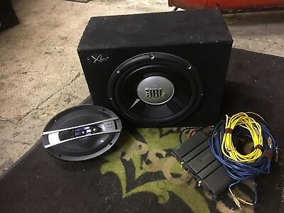 "12"" jbl subwoofer with amp and wiring with 6x9 speaker"