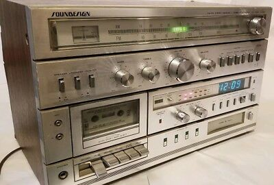 Soundesign Stereo Receiver & Cassette Recorder & 8 Track Player Model 5959 READ