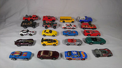 Vintage Hot Wheels Mixed Diecast Lot 20 Cars Trucks Vehicles Various Years Makes