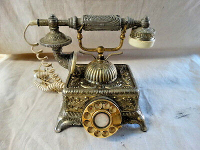 Vintage Antique Ornate Imperial Classique Rotary Dial Telephone