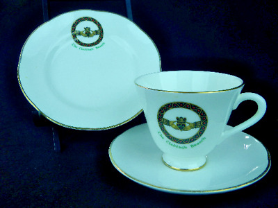 Royal Tara The Claddagh Brooch Bone China Cup Saucer Dessert Plate 4 Available