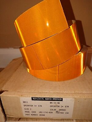 "Reflexite Reflective Conspicuity Tape Type 5 V82 V92 Orange 2""x5ft"
