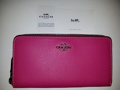 Nwt Coach Accordion Zip Wallet F16612