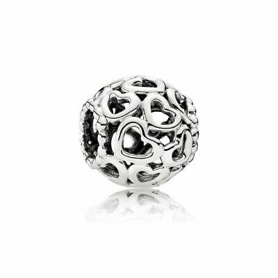 New Authentic Pandora Sterling Silver Open Your Heart Bracelet Bead Charm 790964
