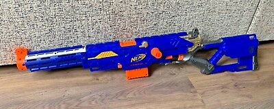 NERF Long-Strike CS-6 Rifle- With Extension Barrel- Kids Toy- Hasbro- Working