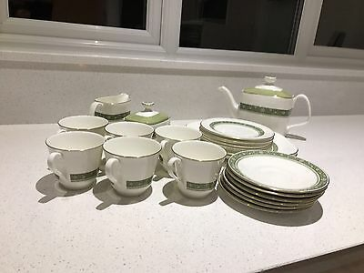 Set of 23 Royal Doulton RONDELAY H5004 Full Tea Set Immaculate condition