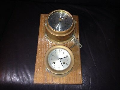 An old SCHATZ SHIPS BELL Clock & Barometer Nautical - Germany