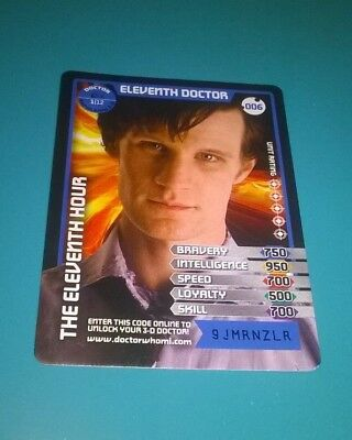 Doctor Who Monster Invasion  Super Rare 3-D The Eleventh Doctor Card (006)