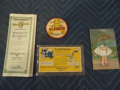 Alemite Vintage Post cards Grease advertising early 1900's/ Ford