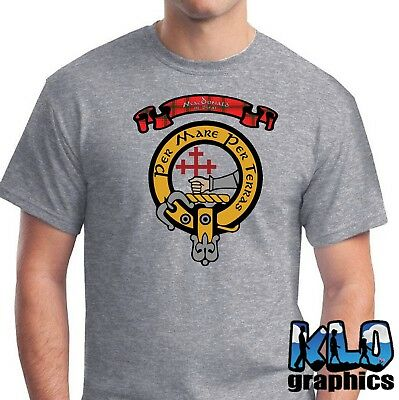 MACDONALD of SLEAT CLAN with Crest and Tartan Colors T-Shirt Scottish Clans