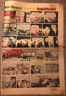 Sunday Comic Section 7/5/53 Annie Terry Pirates Lone Ranger Paper Dolls Bin
