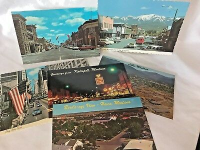 Montana Street Streets Postcards & Fort Macleod Canada and Busy State Street ???