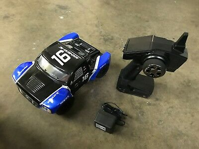 Mad Gear 1/16 Electric Short Course RC Racing Truck 2.4ghz RTR Blue - USED