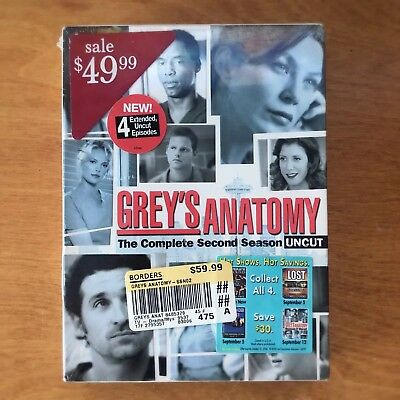 Grey's Anatomy The Complete Second Season Uncut DVD Brand New Sealed