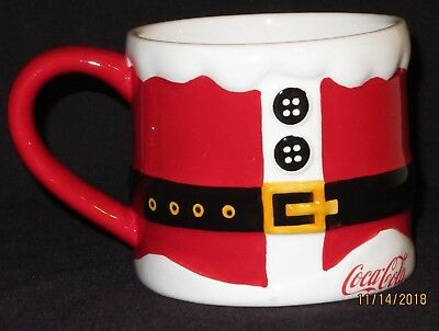 Coca-Cola Coffee Mug Santa suit design  Large 22 OZ - Holiday / Christmas